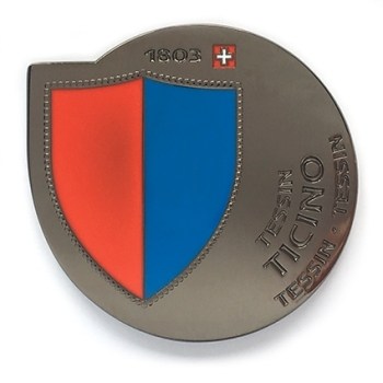 Geocoin Ticino - Black Nickel