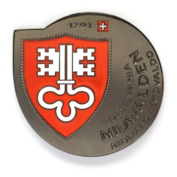 Geocoin Nidwalden - Black Nickel