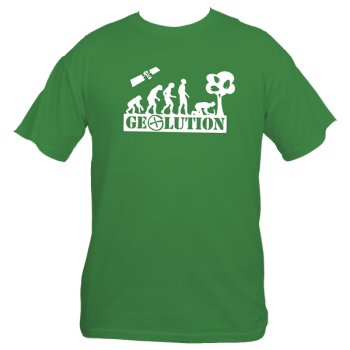 "T-Shirt ""Geolution"" - grün"