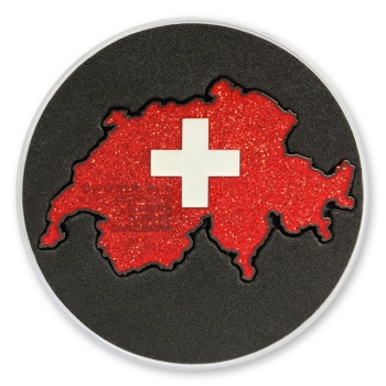 Love Switzerland Geocoin - Black Nickel