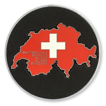 Love Switzerland Geocoin - Nickel