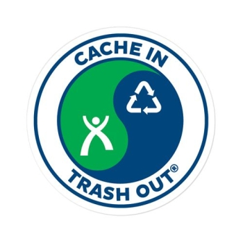 """Cache in Trash out"" Sticker"